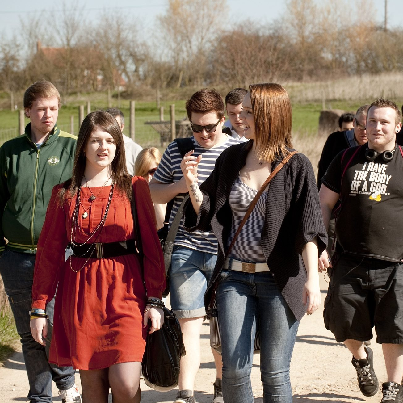 Students visit case study in sustainable living