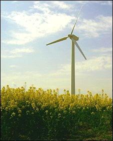 village wind turbine