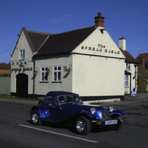 Pub and car