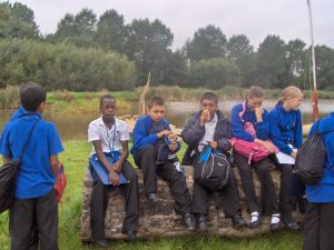 Students on a visit to Hockerton