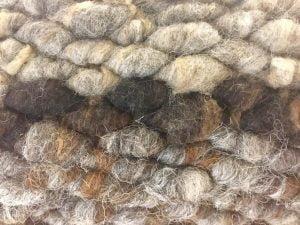 Peg loom weave close-up