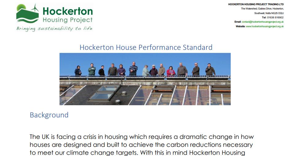 House performance standard